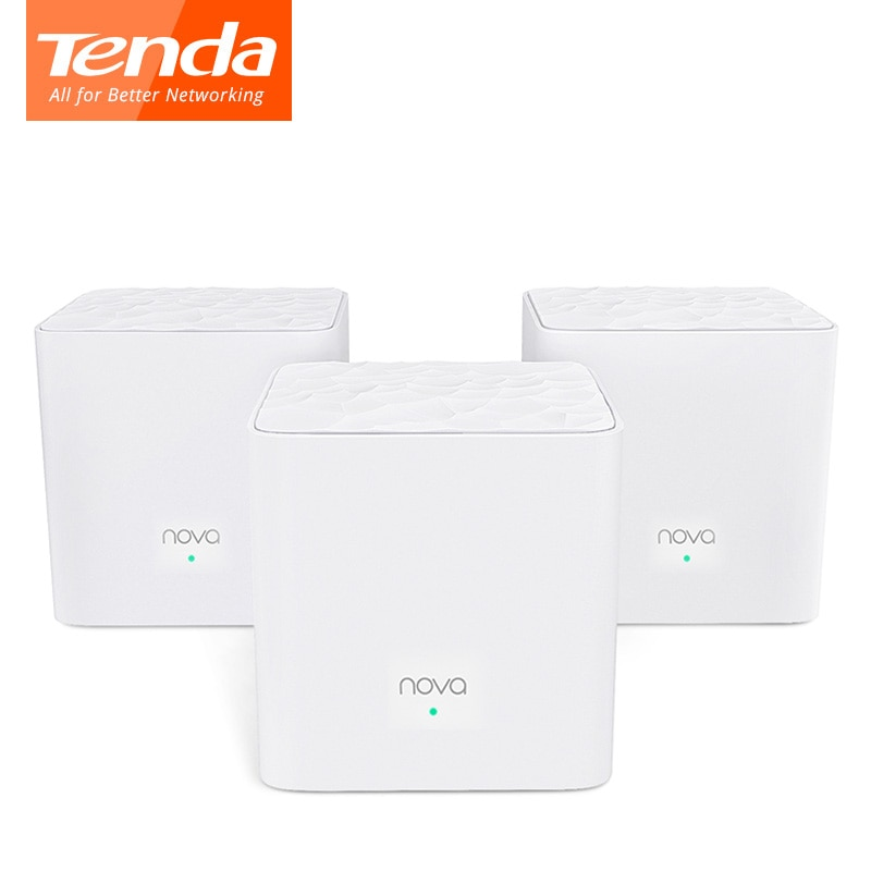 Tenda Nova MW3 Router Wifi AC1200 de doble banda para toda la casa cobertura Wifi Sistema de malla WiFi puente inalámbrico, APP control remoto