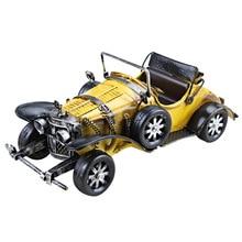 Jouet artisanal Vintage classique   Ornement de modèle de voiture classique, décoration de maison, Figurines dartisanat en fer, voiture rétro modèle Miniature dameublement, jouets denfant