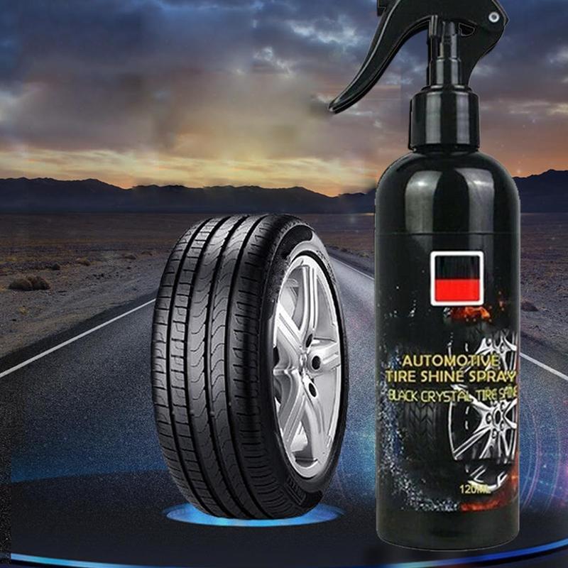120 мл Новая шина блеск для шин спрей глазирование оставляет шину черная резина Защитная автомобильная шина воск для шин полировка покрытия ...