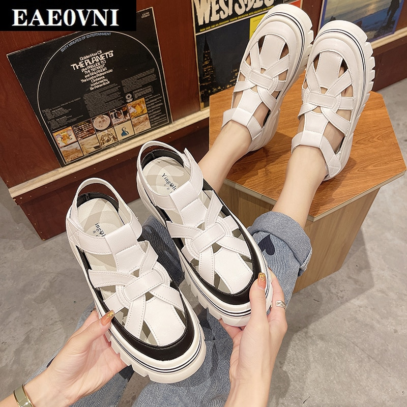 Лето 2021, женские спортивные сандалии, удобные сандалии на платформе, модные сандалии в римском стиле, повседневные сандалии для улицы сандалии saivvila saivvila mp002xw0e570
