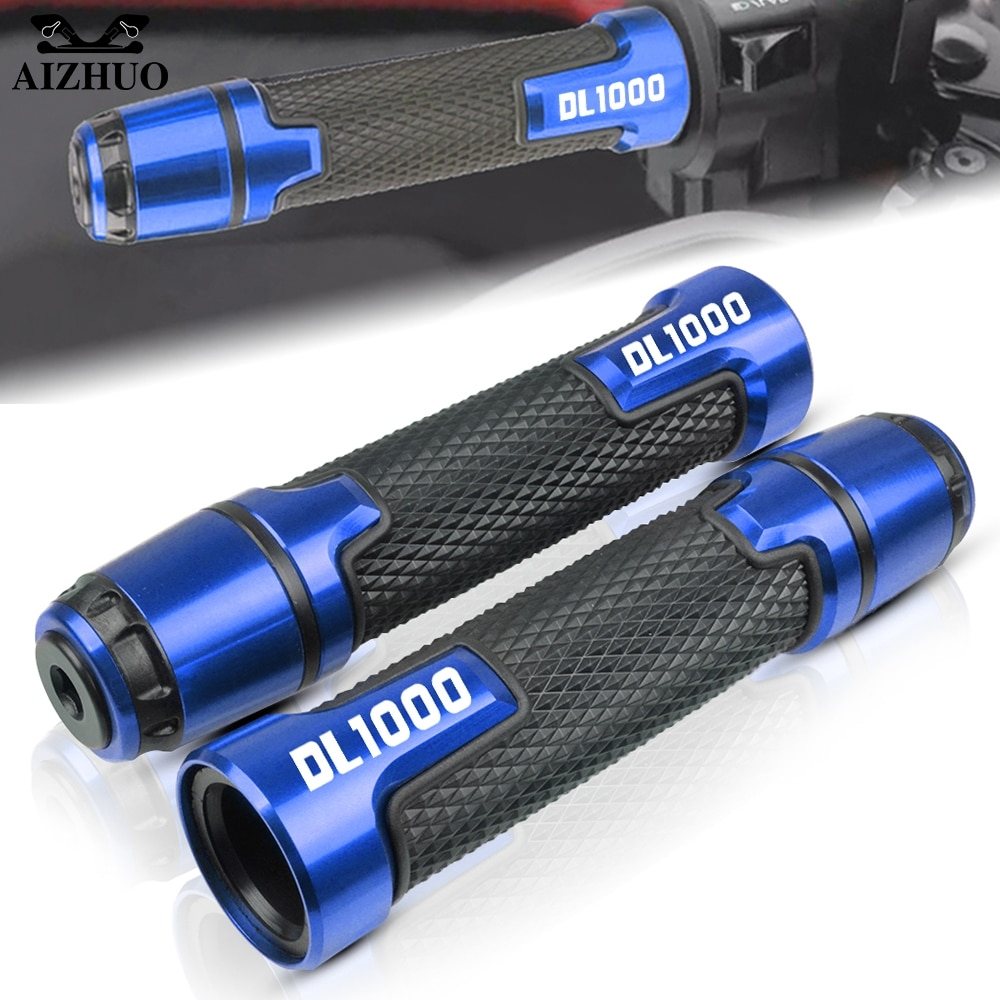 Empuñaduras de motocicleta empuñaduras de carreras manillar empuñaduras extremos para SUZUKI DL 1000 DL1000 v-strom 2002-2018 2017 2016 2015 14