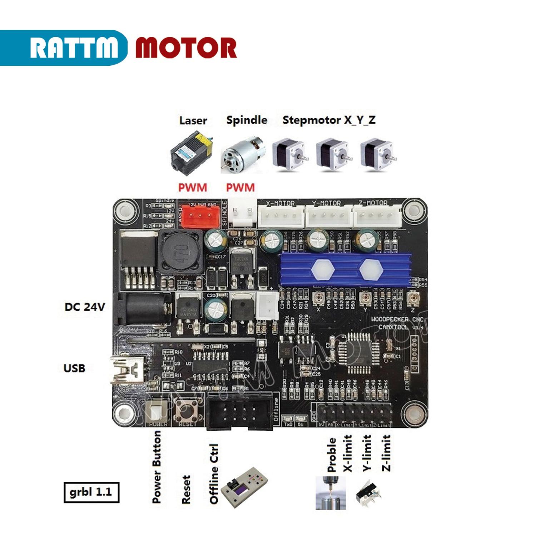 3 achsen GRBL 1,1 f USB Port CNC Router Gravur Maschine Controller Board 2418 3018 CNC Router control karte unterstützung laser Motortreiber    -