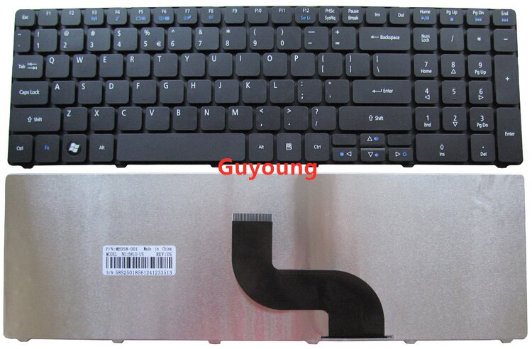 Teclado del ordenador portátil para Acer Aspire 5253, 5333, 5340, 5349, 5360, 5733 5733Z 5750 5750G 5750Z 5750ZG 5250, 5253G nos inglés