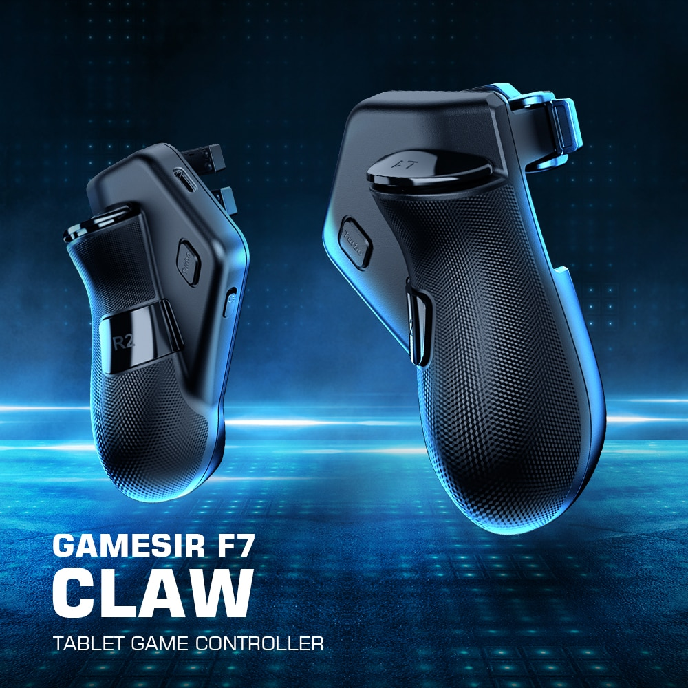 GameSir F7 Claw Tablet Game Controller, Plug and Play Gamepad for iPad / Android Tablets for PUBG, Call of Duty, Mobile Legends