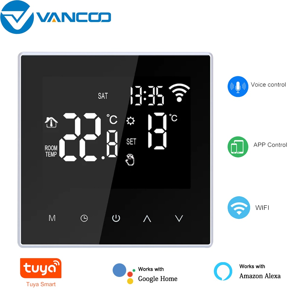 Tuya WIFI Smart Home Underfloor Heating Thermostat Mobile Phone APP Temperature Control Touch Screen Digital Thermoregulator