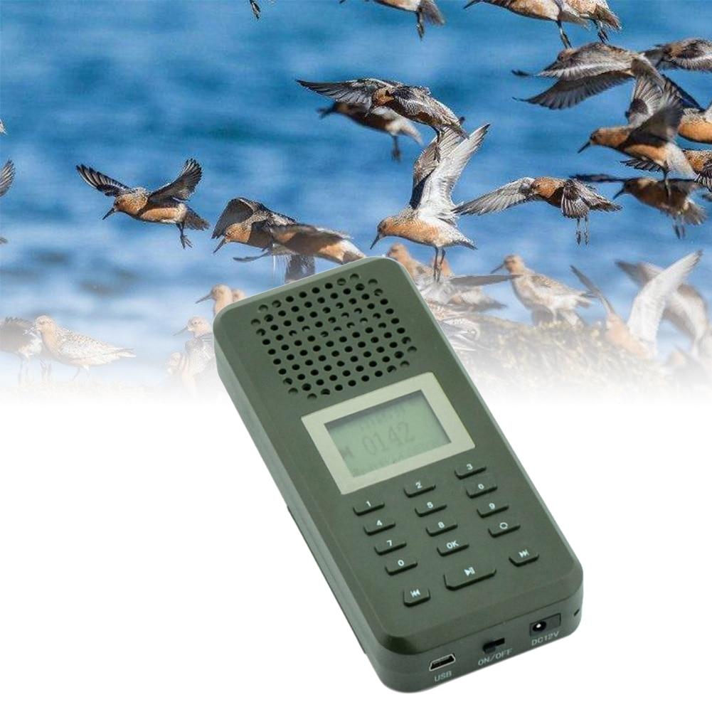 Hunting Decoy Bird Caller Portable Bird Caller MP3 Player Bird Sound Loudspeaker Animal Singing Device Amplifier Green Predator wholesale denmark outdoor hunting decoy 50w decoy loud speaker bird caller hunting bird mp3 with 210 bird sounds