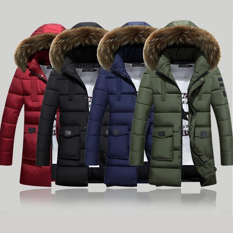 Зимняя теплая утепленная куртка, мужская повседневная однотонная толстовка, куртка, мужские бархатные парки, ветровка, длинная куртка, своб...