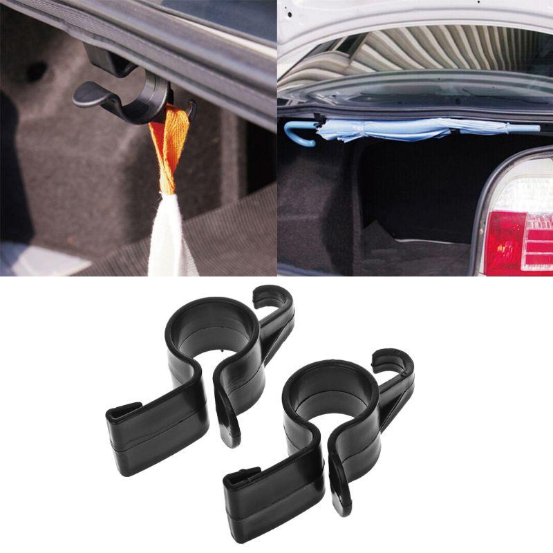 2Pcs Car Rear Trunk Mounting Bracket Umbrella Holder Automobile Trunk Organizer For Umbrella Hanging