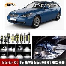 20 قطعة في Canbus Led لمبة الداخلية الإضاءة ضوء عدة ل BMW E60 E61 M5 525xi 525i xDrive من 530i 530xi 540i 545i 550i 2003-2010