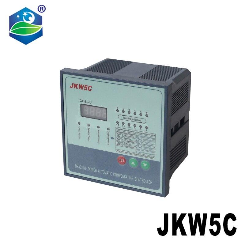 JKW5C JKL5C معامل القدرة 380v 6 الخطوات قوة رد الفعل التلقائي تعويض تحكم مكثف ل 50/60HZ