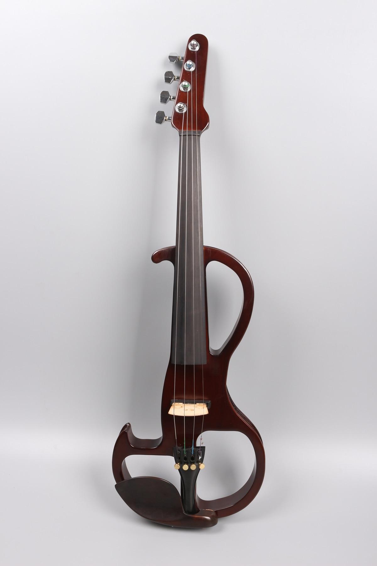 4/4 violín eléctrico de tamaño completo práctica mostrar de madera de arce w/auriculares guitarra cabeza 1/8 jack