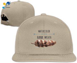 Yellowpods Watecalor 10eps Feather Wreath Men's Relaxed Medium Profile Adjustable Baseball Cap