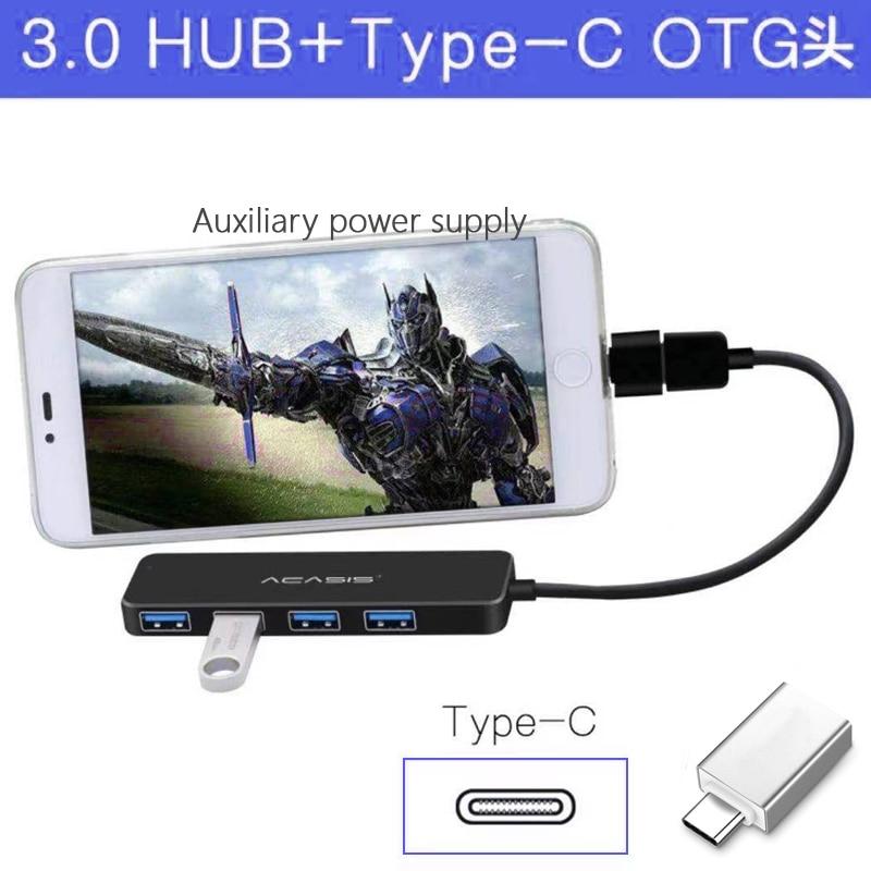 Acasis USB 3.0 Hub 4 Port Multi  Power Adapter Hub USB 3,0 for PC Computer Accessories USB Splitter for Macbook enlarge