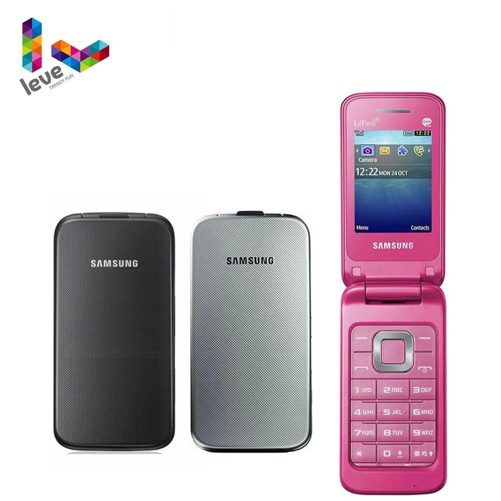 Original Samsung C3520 Flip Unlocked Mobile Phone 2.4 Inch GSM 1.3MP Refurbished Cellphone