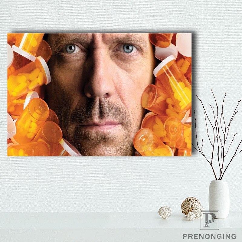 Póster de lienzo de tela de seda de la Casa de las píldoras para TV, casa guía, píldoras de color MD, póster de decoración del hogar #180418-23