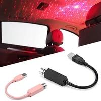 mini led car roof star night lights projector light interior ambient atmosphere galaxy lamp decoration light usb plug