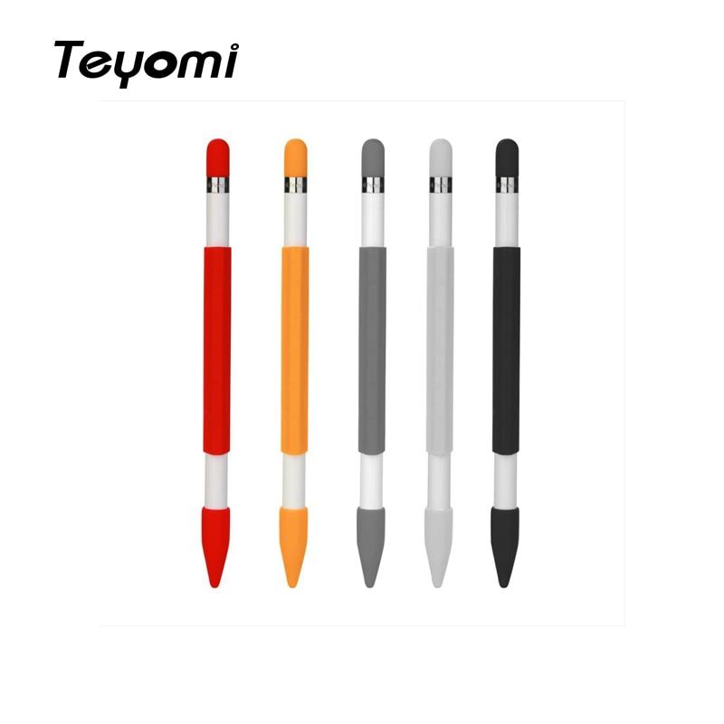 Caja de lápices magnéticos de silicona blanda Teyomi, funda con tapa de lápiz y tapa de pluma para accesorio de lápiz Apple