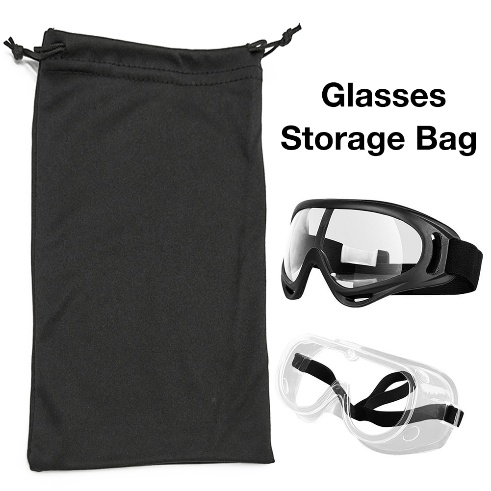 Bolsa de almacenamiento de gafas para esquiar gafas de sol microfibra Bolsa duradera contenedor organizador bolsas