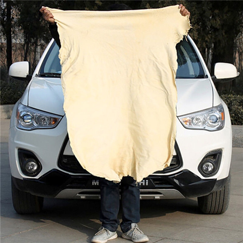 1 nuevo paño de gamuza para limpiar ventanas, gamuza, gamuza Natural, paños de limpieza del coche, toalla absorbente