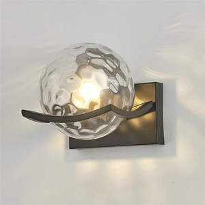 Modern Wall lamp LED Glass lampshade wall lamps for bedroom decor Nordic indoor lighting for living room hotel corridor lights