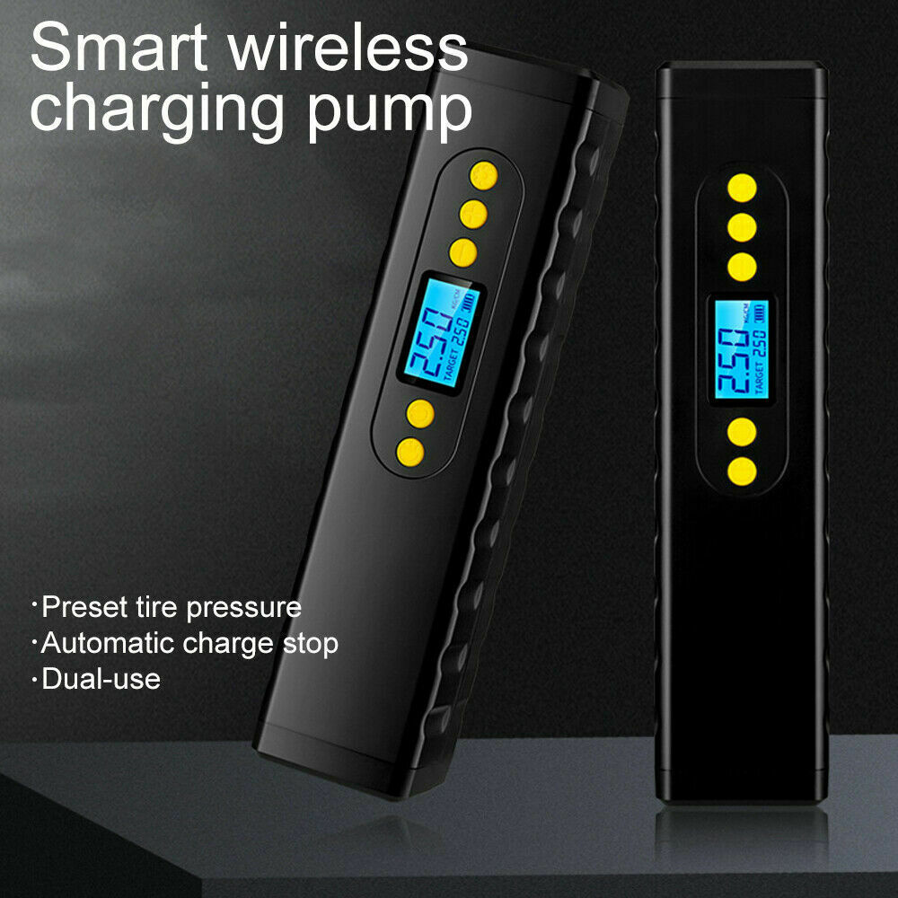 مضخة هواء كهربائية لا سلكية صغيرة قابلة للنفخ لدراجات السيارات