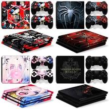 Voor PS4 Pro Huidskleur Kunstwerk Patroon Borden Cover Skin Decals Stickers Flim Voor Playstation 4 PS4 Pro Controller Skin