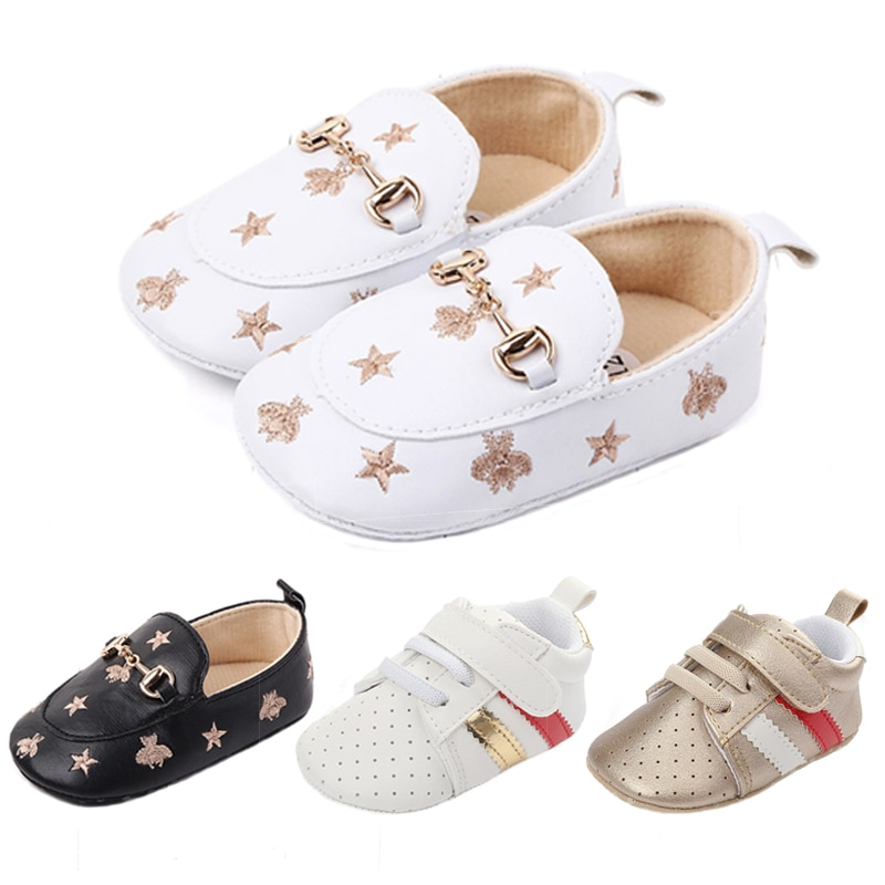 2018 spring autum new infant sports baby boy shoes of children 1 3 years toddler soft bottom hook New newborn baby boy shoes Pink stripe Patch Casual soft bottom non-slip breathable new born baby girls Infant toddler shoes