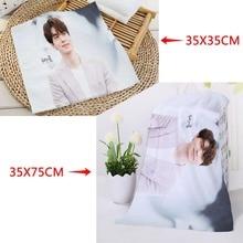 35x35 см, 35x75 см полотенца на заказ KPOP Lee Dong wok печатные квадратные полотенца из микрофибры абсорбирующие сушильные банные полотенца мочалка