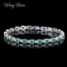 Wong pluie Vintage 100% 925 en argent Sterling émeraude pierre gemme Bracelet breloque mariage Cocktail Bracelet bijoux fins cadeaux en gros
