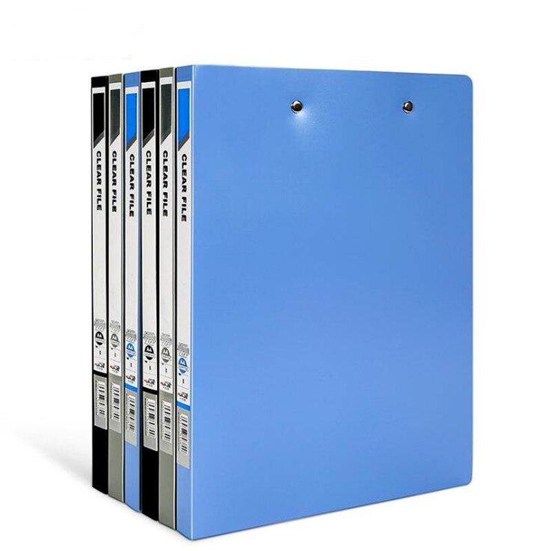 Nuevo A4 fuerte doble abrazadera de carpeta de archivo de inserción de papel en la carpeta información de binder
