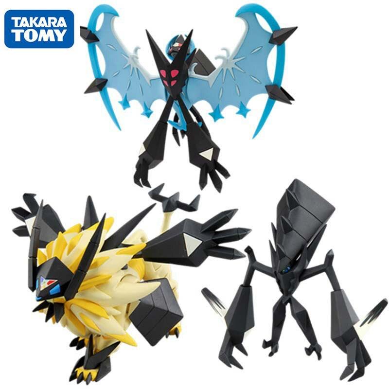 Takara Tomy Pokemon Sun and Moon Solgaleo Lunala Necrozma Action Figure Collection Model Toys Anime Gifts for Kids