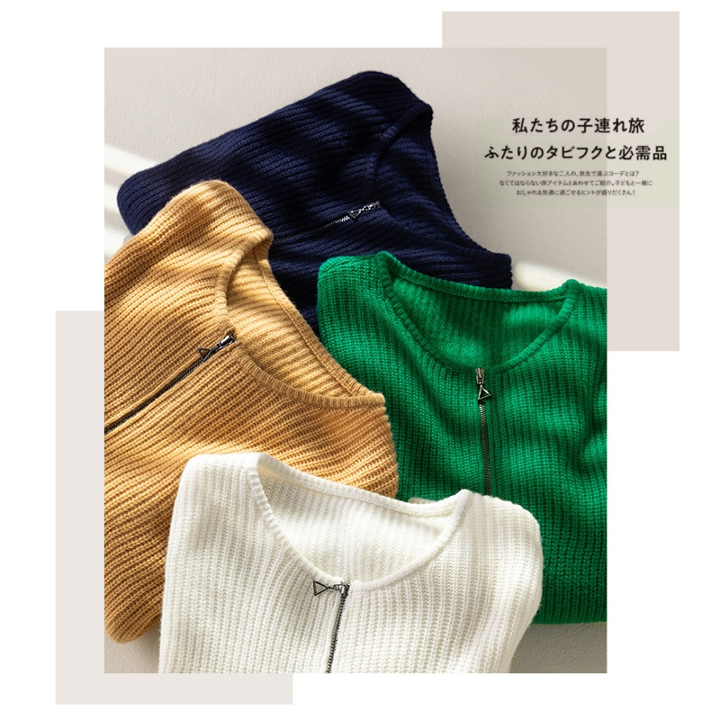 Shuchan  Zippers Wool Knit Sweater Pullover Autumn Winter New 2021 Thick Pullover Knitwear Free Shipping Items Clothes for Women enlarge