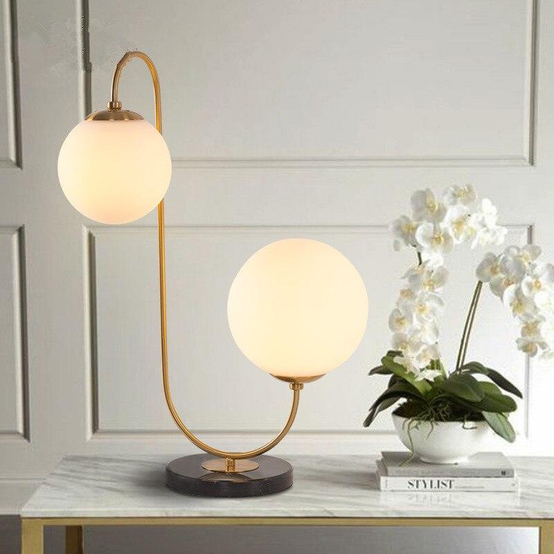 Lámpara led de mesa para dormitorio, lámpara led para cabecera de madera, estilo europeo
