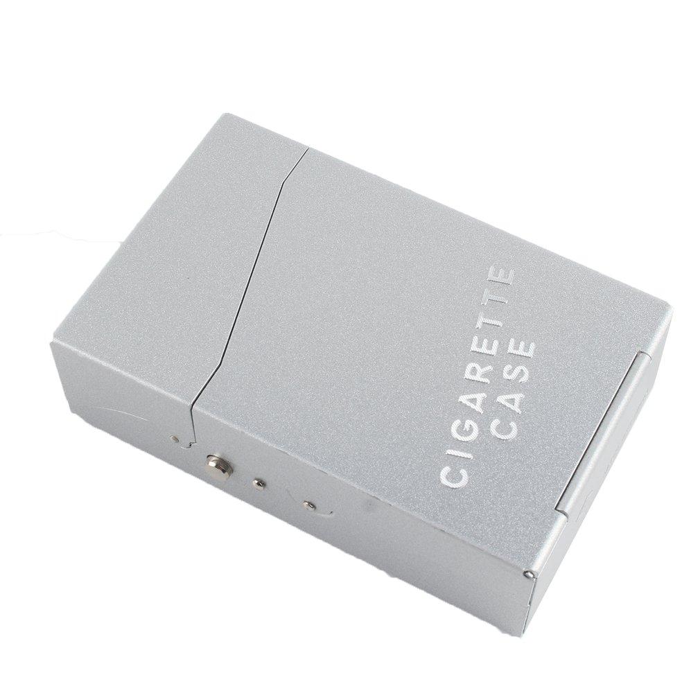 New Fashion Aluminum Metal Cigar Cigarette Box Brand Cigarette Holder Tobacco Storage Case Gift sliver