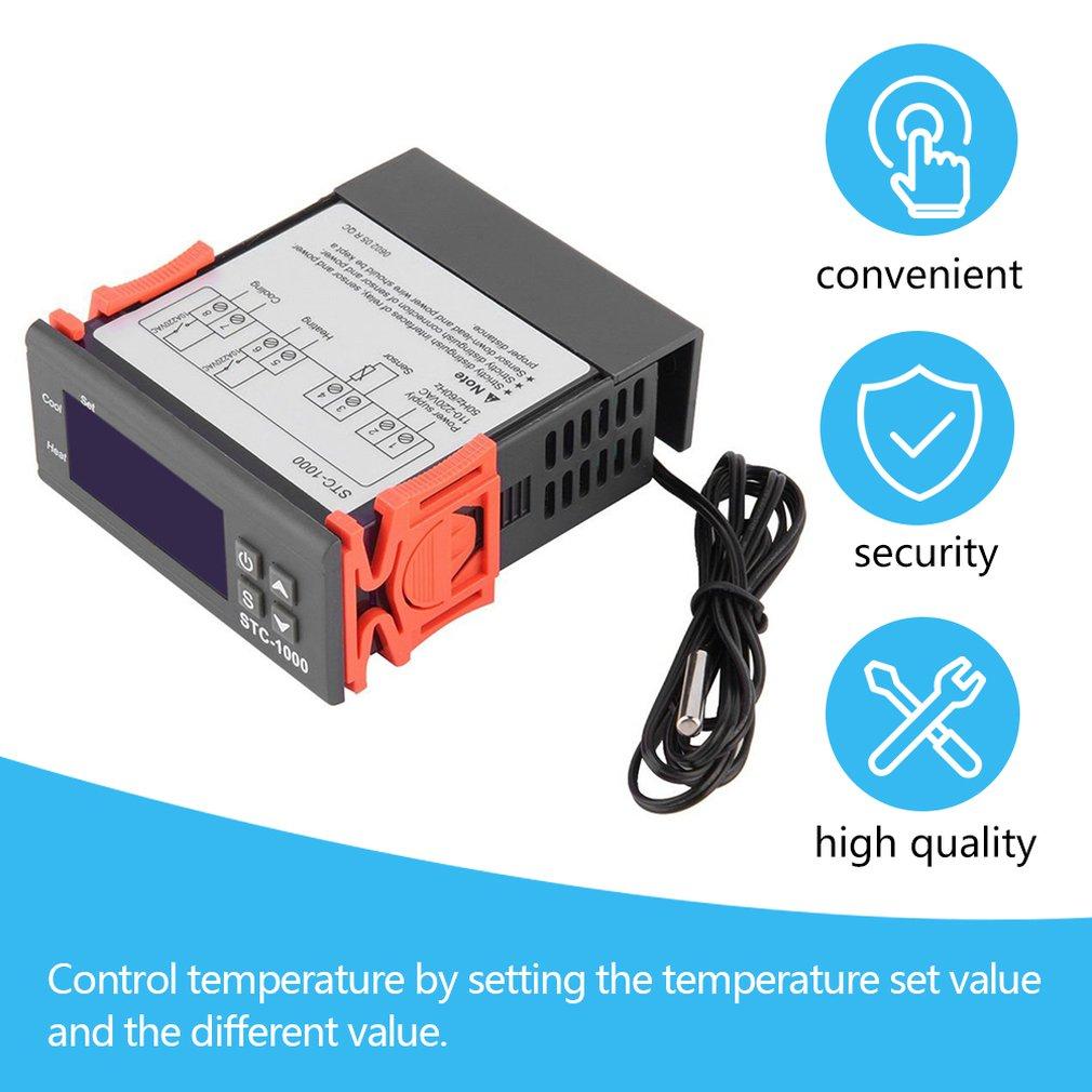 AliExpress - Black Digital STC-1000 All-Purpose Temperature Controller Thermostat With Sensor Temperature Instrument Diagnostic Tool
