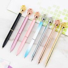 Yeni Metal taç kalem yaratıcı güzel taç tükenmez kalem okul ofis yazma kırtasiye 10 adet/grup