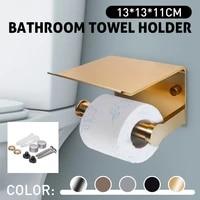 Support de rouleau de telephone portable avec etagere  accessoires de salle de bain  WC  noir