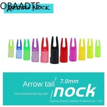 100Pcs bow and arrow accessories 7mm fiberglass jacket arrow tail imported pc toughness bow tail hun