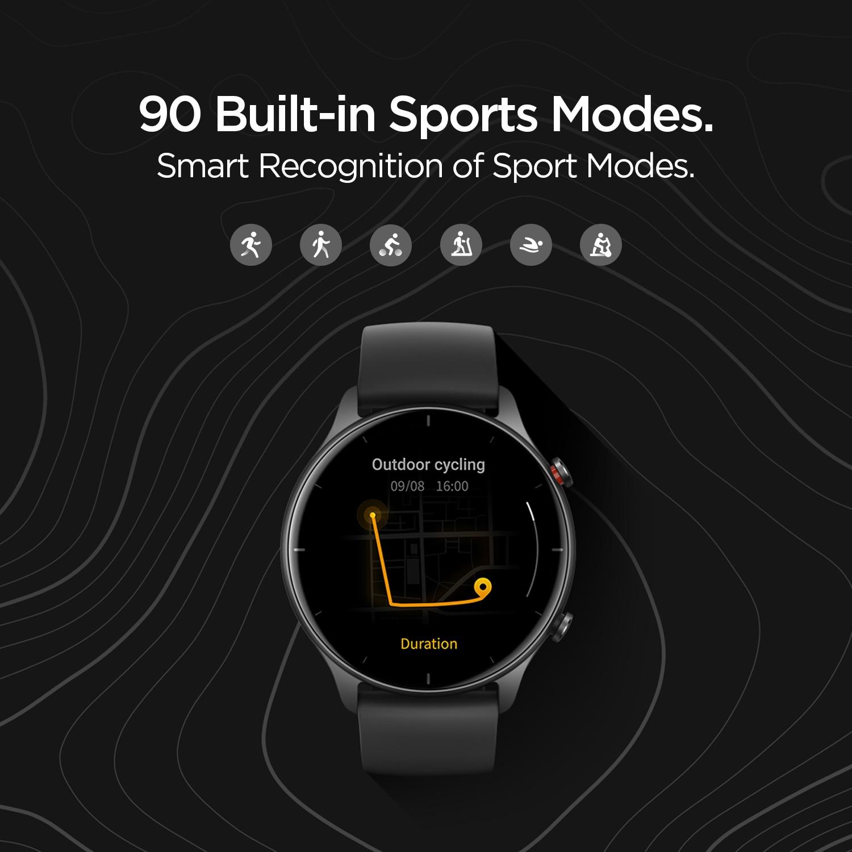 2021 النسخة العالمية Amazfit GTR 2e Smartwatch 24 أيام عمر البطارية 2.5 D الزجاج 90 وسائط الرياضة إنذار بلوتوث 5.0 ساعة ذكية
