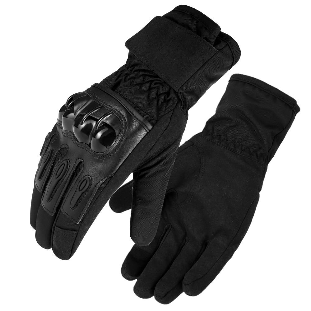 Guantes de moto para exterior, resistentes al agua, cálidos, de dedo completo,...