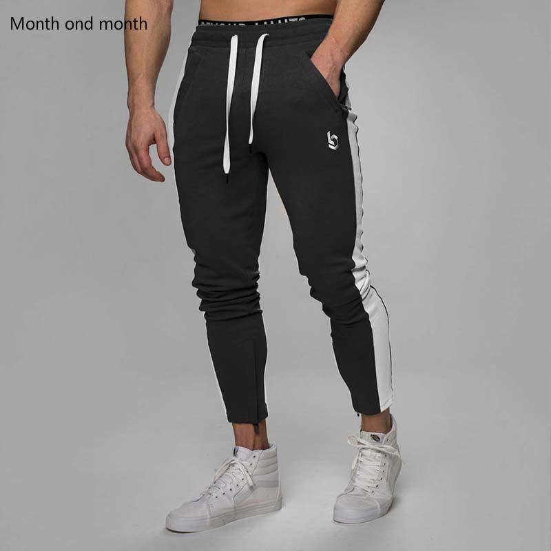 Casual Pants Men Joggers Skinny Elastic Sweatpants Bodybuilding Fitness Trousers Fashion Slim Outdoor Sports Hip Hop Track Pants