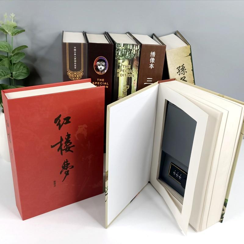 Сейфы для книг с имитацией словарного шкафа, шкафчик для хранения купюр и драгоценностей, сейф с замком