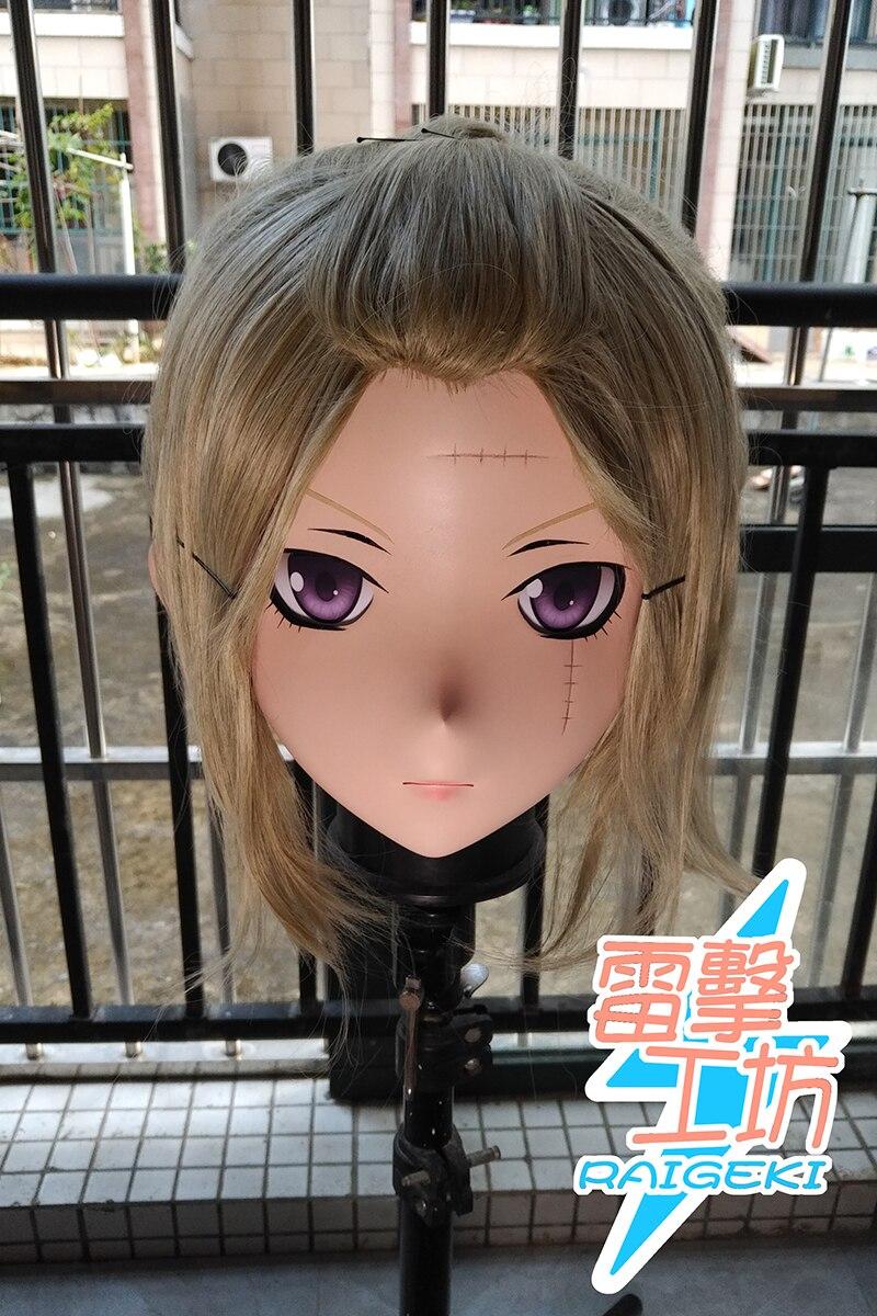 (RAIGEKI MAKS 06) résine 3/4 tête femme/fille Kigurumi Anime Cosplay masques Crossdress japon rôle Lolita crosscommode poupée BJD Cos