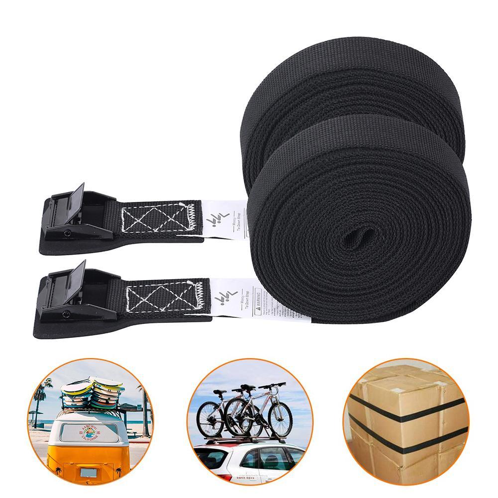 1 Pair Tie-Down Belt Cargo Lashing Straps Strong Ratchet Belt for Car Motorcycle Bike Cargo Kayak Carrier Straps Luggage Bag