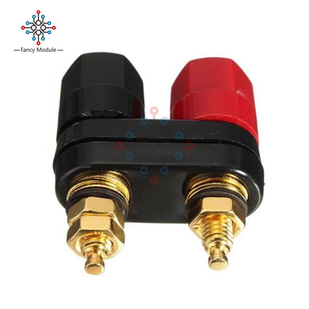 Conector Banana de 4MM, conector dorado de placa, Conector de Terminal, conector Banana, Conector de poste de alambre, rojo, negro
