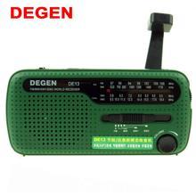 DEGEN DE13 FM AM SW радио Кривошип Динамо солнечной энергии аварийное Ретро Радио A0798A мира приемник портативный интернет радио