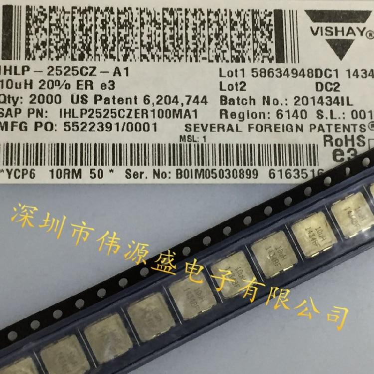 10 pçs/lote IHLP-2525CZ-01 VISHAY SMD 100% Novo Original