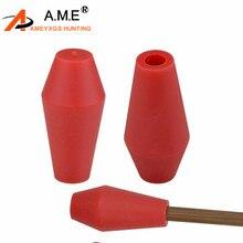 AMEYXGS 6 stücke Bogenschießen Ziel Broadhead Nylon Pfeilspitze Praxis Schießen Tipps Bereich Punkt ID 8mm für Bambus Holz Aluminium pfeil