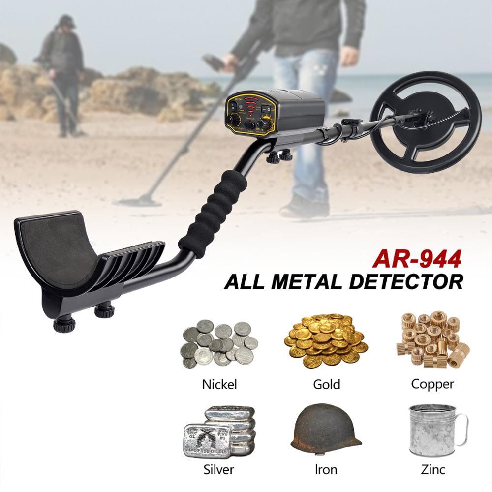 Detector de Metales subterráneo resistente al agua Depth1.5m/3 m AR944M buscador de escáner buscador de oro buscador de tesoro 1200mA Búsqueda de batería de litio