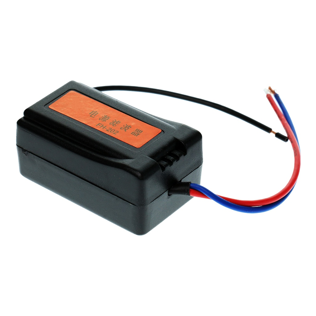 DC 12V Car Radio Audio Pre-wired Noise Filter System Ground Loop Isolator